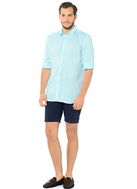Bosphorio Uzun Kollu Slim Fit Gömlek Yeşil